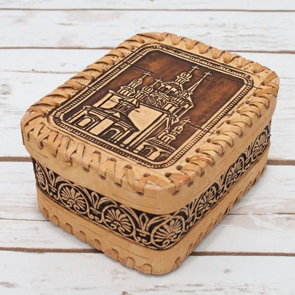 russian gifts Birch Bark box