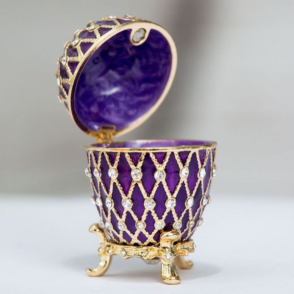 Faberge Egg Twisted Egg with a Crown
