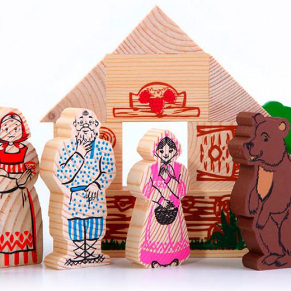 колобок - деревянная игрушка -конструктор