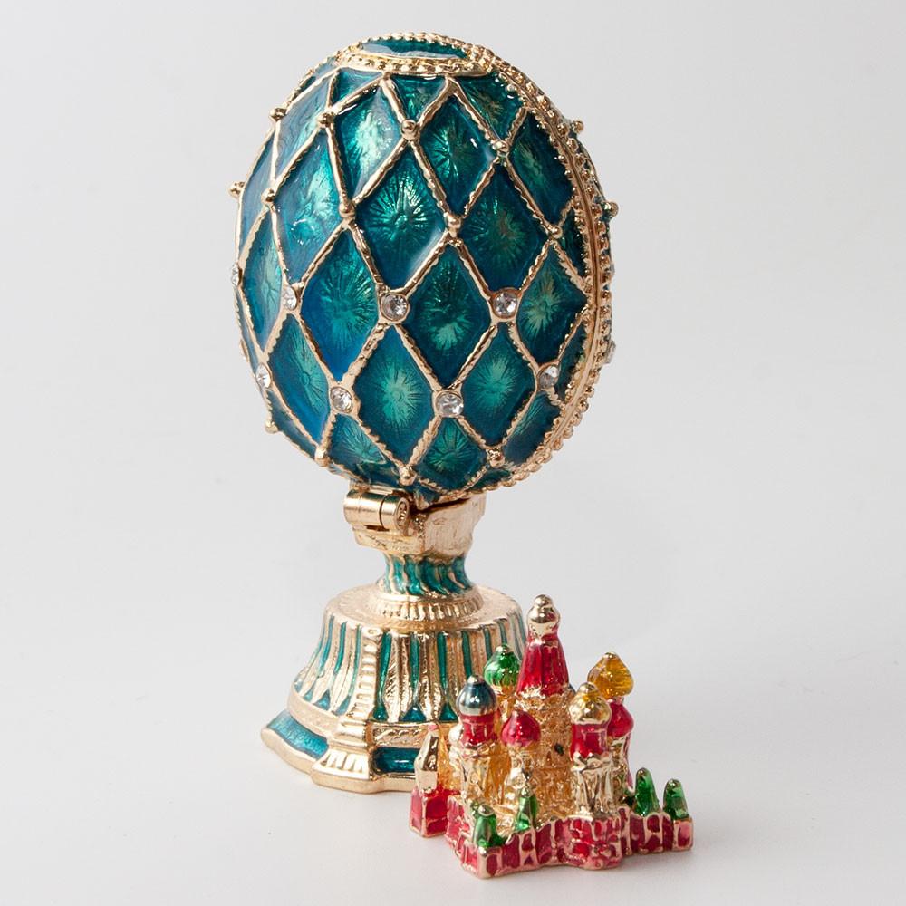 Jewelry Box Russian Decorative Faberge Egg Moscow Kremlin