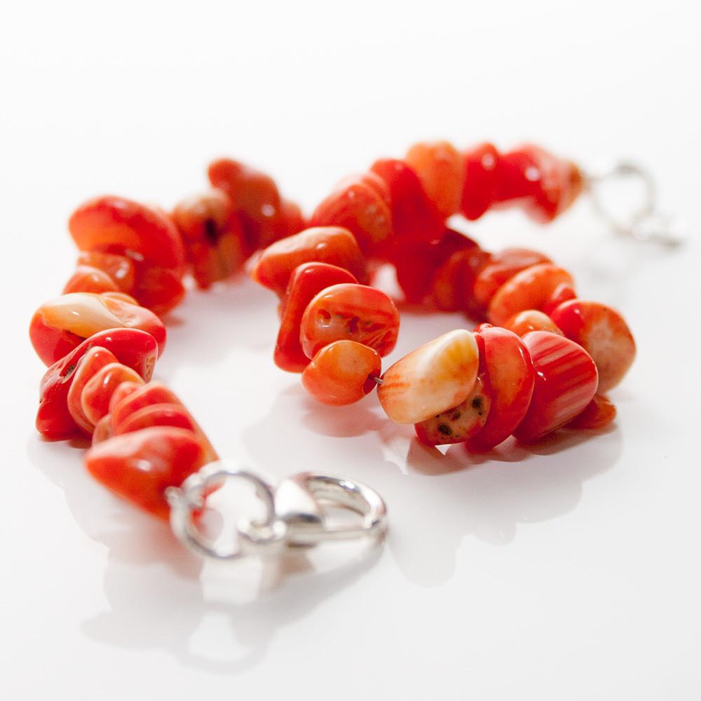 Amulet Bracelet Coral - Handmade Jewelry