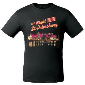 "T-shirt one-sided ""Night St.-Peterburg"""