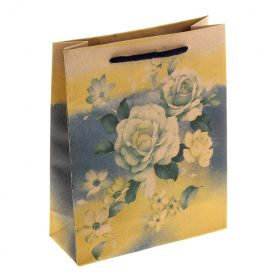 "Paper Bag ""White Peonies"""