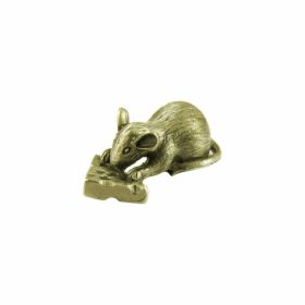 "Talisman for money figurine ""Mouse with cheese"", Metal"