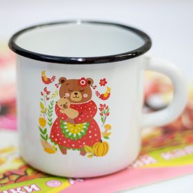 "Enameled Kids Mug ""Bears"" 0.4 L"