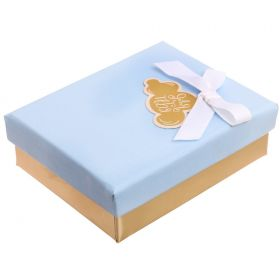 "Gift box for pendant / earrings / ring embossed ""For you"", 7 x 9 x 2.8 cm"