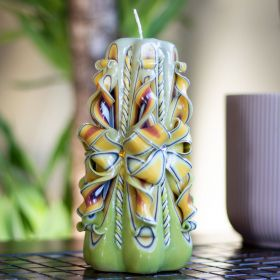 handmade carved candle