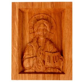 "Christian Icon carved from wood oak ""Almighty"""
