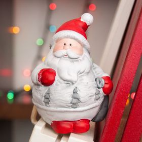 "Ceramic ""Santa Claus"" Figurine"