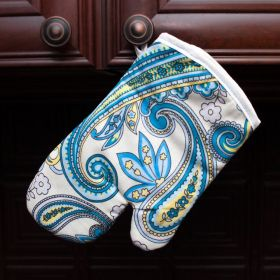 """Oven Mitt """"Blue Traditional"""""""
