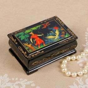 "Jewelry box ""Portraits"", lacquer miniature"