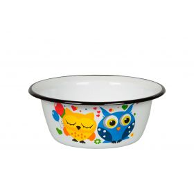 "Enameled Bowl ""Owls"" 0.8 L"
