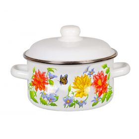 "Enameled Casserole ""Flower"""