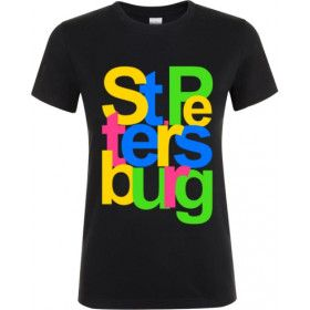 "Women's t-shirt ""St. Petersburg"", one-sided"