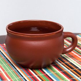 "Clay Tea Cup ""Silk Style"""