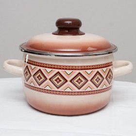 "Enameled Casserole ""Chocolate"""