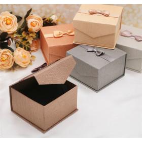 Mens jewelry box under the bracelet / watch Gentleman 9 x 9, color MIX, inset black