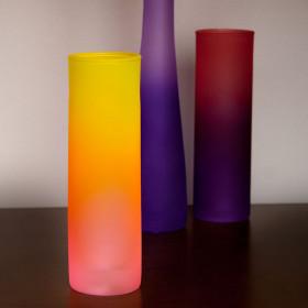 Glass Matte Vase, Сylinder