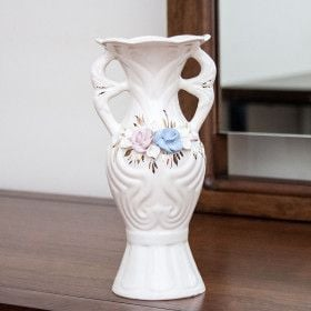 Ceramic Vase, decal