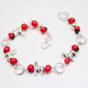 "Peruvian amulet Bracelet ""Lama"" - Huayruro - Handmade Jewelry"