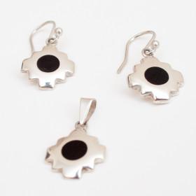 Amulet Pendant & Earrings 950 Sterling Silver Peruvian Chakana