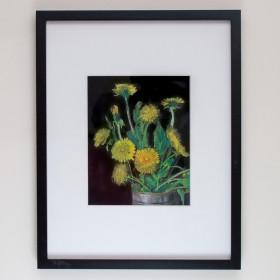 Одуванчики - Картина, пастель, оригинал