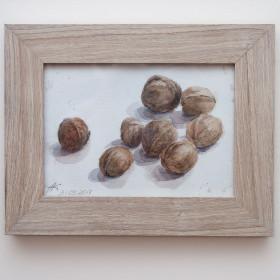 Орехи - Картина, акварель, оригинал