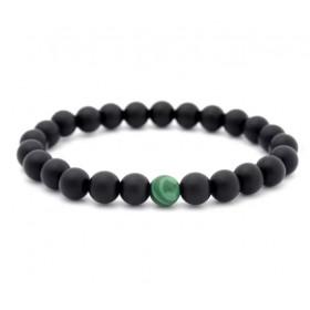 Amulet bracelet: Beaded Bracelet Malachite