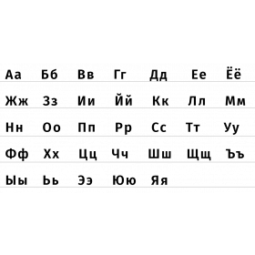 Russian alphabet - russian letters