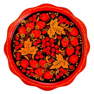 Serving dish, Khokhloma