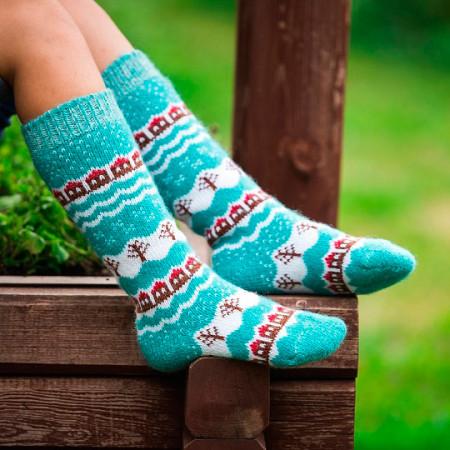 Children's wool knee socks