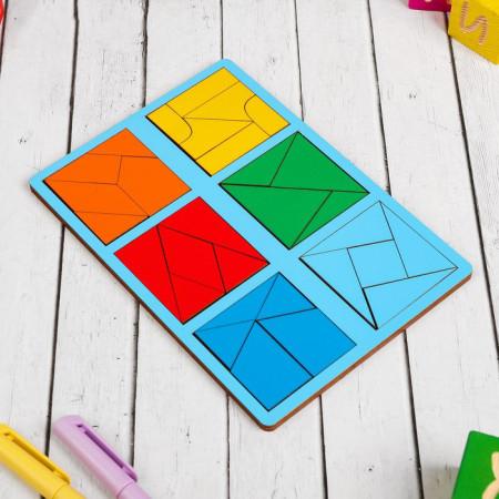 Nikitin's Squares. Unique Wooden Puzzle