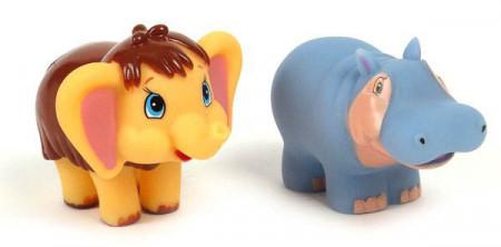 Bath toys Mammoth and Hippo