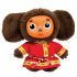 Cheburashka wears Russian traditional costume