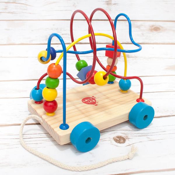 wooden toys bead maze pool toy