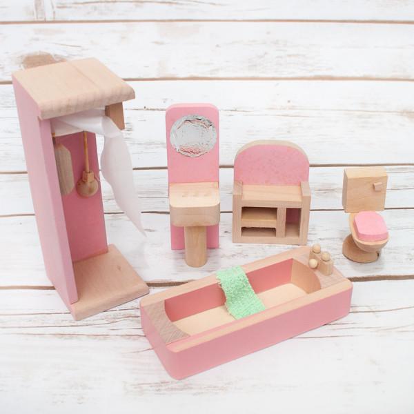 wooden toys Bathroom furniture set