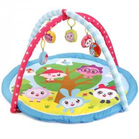 Коврик детский Малышарики с мягкими игрушками
