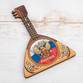"Магнит в форме балалайки ""Россия"" / The magnet balalaika - russian souvenirs"