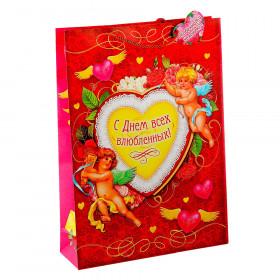 """Пакет подарочный """"С Днем всех влюбленных"""""""